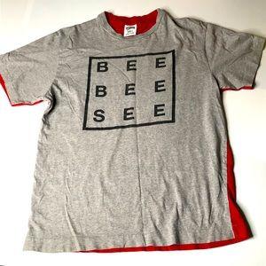 Billionaire Boys Club Men Sz LRG Red Gray T-Shirt